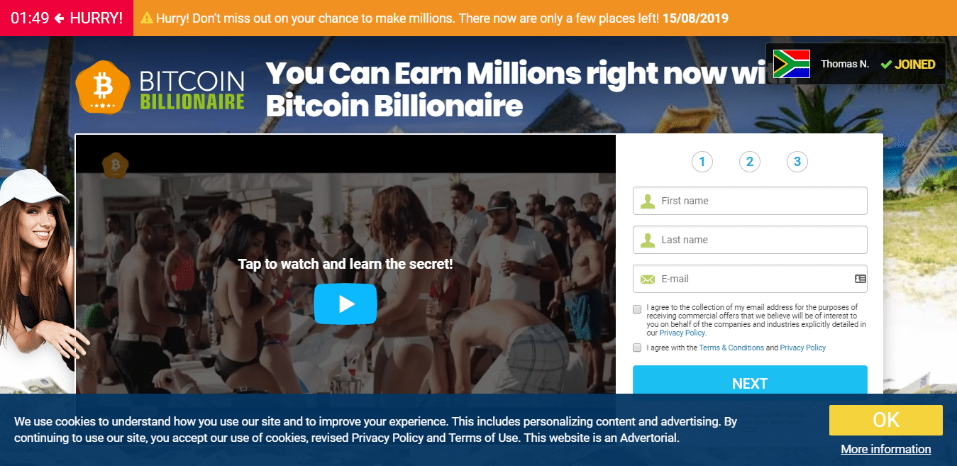Bitcoin Billionare ¿Cómo se utiliza la aplicación Bitcoin Billionare?