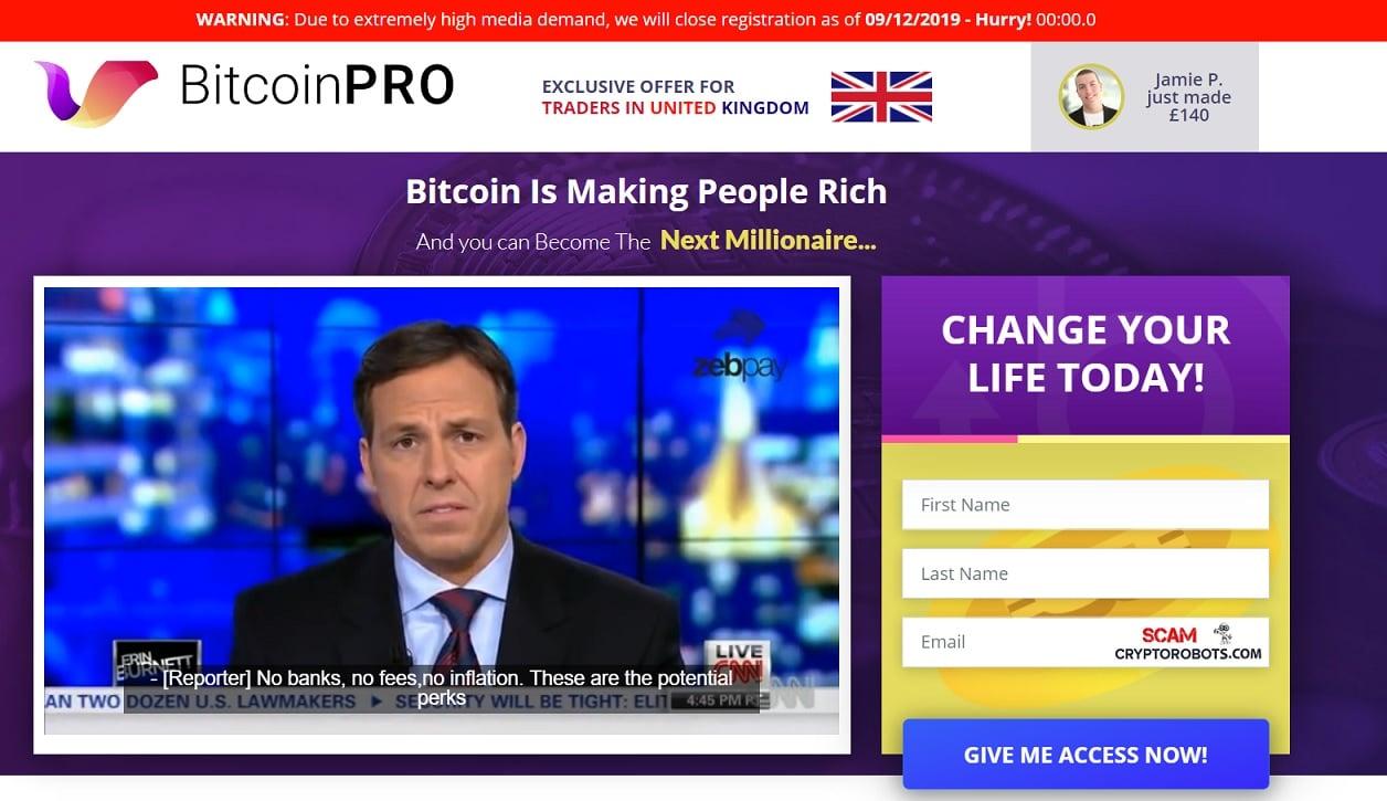 ¿Cómo se utiliza la aplicación Bitcoin Pro?