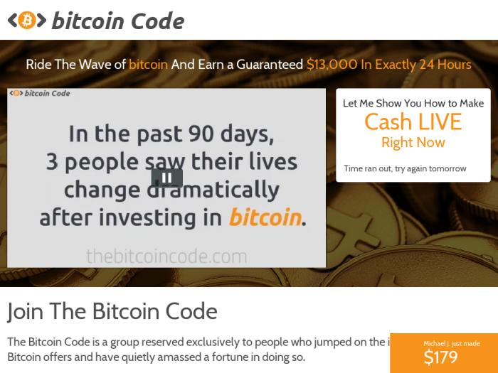 Bitcoin Code ¿Cómo se utiliza la aplicación Bitcoin Code?