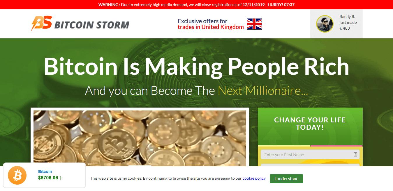 Bitcoin Storm ¿Cómo se utiliza la aplicación Bitcoin Storm?