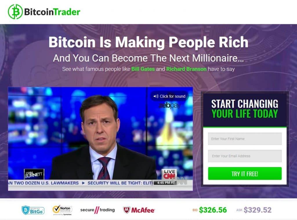 ¿Cómo funciona la aplicación Bitcoin Trader?